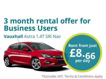 Short term vehicles at Contract Hire prices!